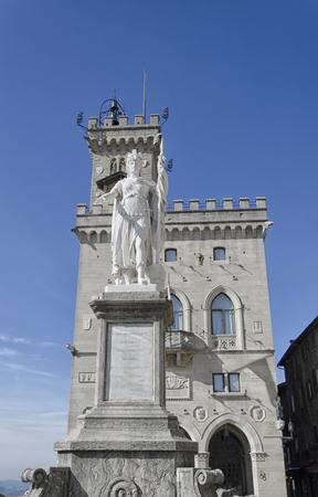 regent: View of the Palazzo Pubblico of San Marino Stock Photo