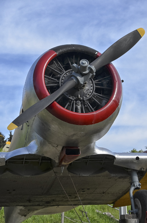 texan: The radial engine of a North American T-6 Texan Stock Photo