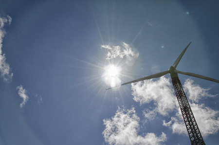 megawatt: View of a wind turbine in action