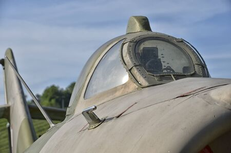 View of the canopy of the Lim-6b jet fighter
