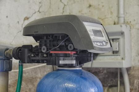 Die Timer- und Ventilanordnung eines Wasseraufbereiter