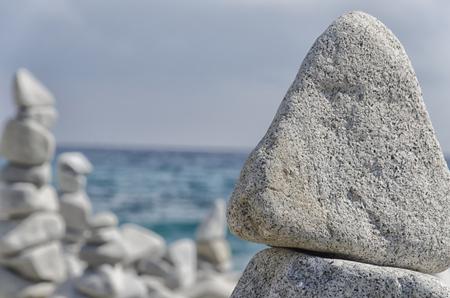 Metaphor for inner balance made with rocks