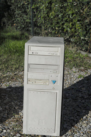 the nineties: View of tower case of the nineties Stock Photo