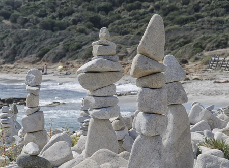 precarious: View of stones monuments in precarious balance