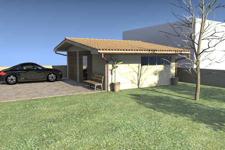 outbuilding: Rendering of a project of a outbuilding