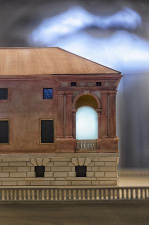 Detail of the scale model of the Villa dei Vescovi