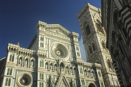View of the facade of the Florence cathedral