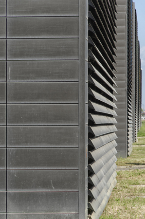 View of big slats on a modern building Stock Photo - 79801790