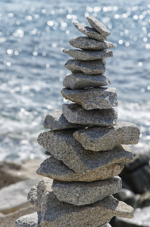 Practical example of inner equilibrium in nature Stock Photo