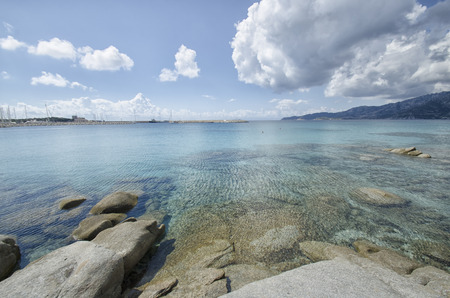 View of turquoise water in South Sardinia Stock Photo