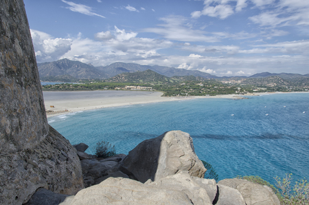 View of the coastline of South Sardinia