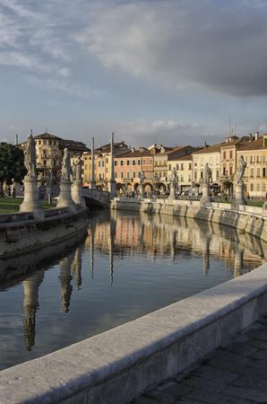 View of the Prato della valle square in Padova Stock Photo