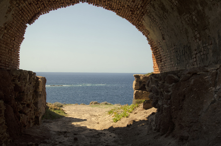 View of the seascape of the West Sardinia Stock Photo