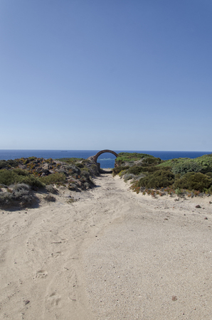 View of the dunes of the Sardinia