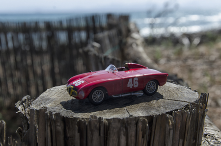 View of a model of a sport car Stock Photo