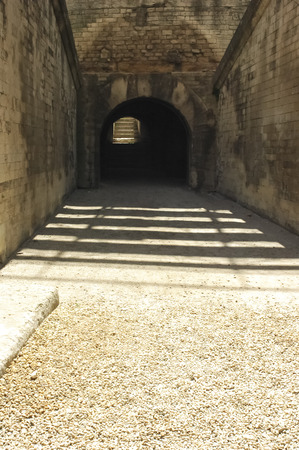 The entrance for the gladiators in the Arles arena