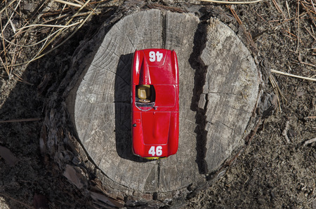 View from above of a sport car Stock Photo