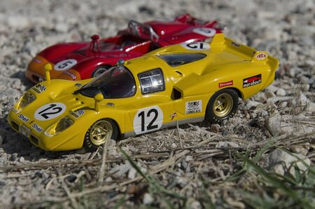 Pisa, Italy - September 05, 2015: View of Italian sport cars at the sun Editorial