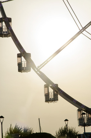 View of the gondolas of a giant wheel