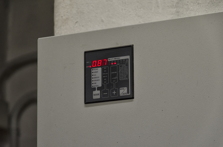 View of a graphic display of a reactive power regulator Stok Fotoğraf