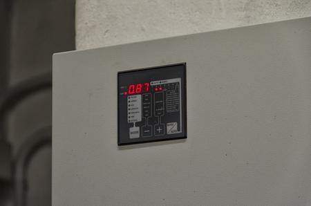View of a graphic display of a reactive power regulator Banco de Imagens