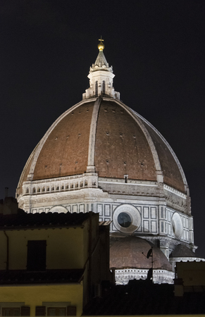View of the dome of Brunelleschi at night