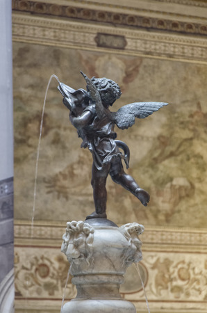 View of the Little angel with dolphin of Verrocchio