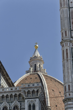 View of the top of the Duomo of Florence Editorial