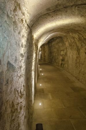 View of hidden dungeon of the castle of Otranto Stock fotó