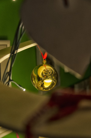 View of decorative balls on a christmas tree Imagens