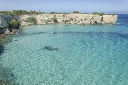 View of the cliffs of the Salento Stock Photo