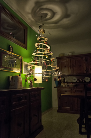 View of very special Christmas home decorations