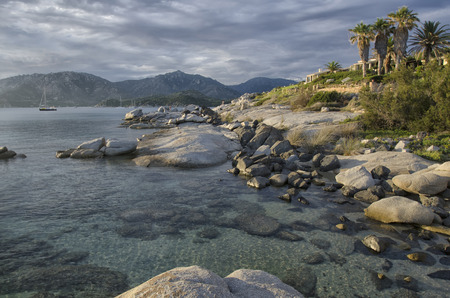 View of the magnificent coastline of Villasimius Stock Photo