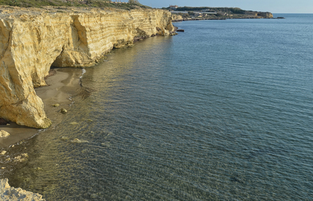 View of the beautiful coastline of the Ragusa province