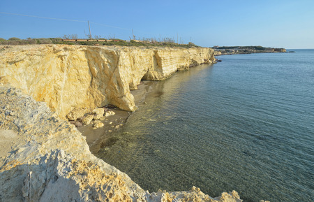 View of the magnificent coastline of the Ragusa province Stock Photo