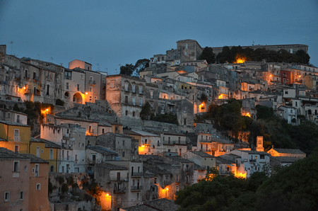 View of the baroque city of Ragusa