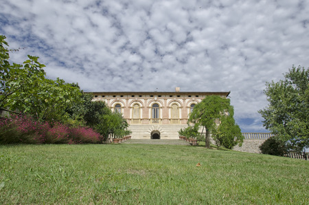 View of the magnificent Villa dei Vescovi in Torreglia Archivio Fotografico - 95214021