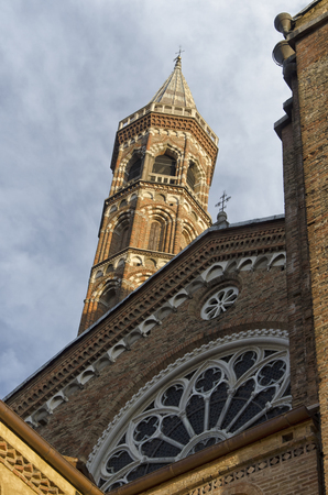View of the bell tower of the Basilica of Padua