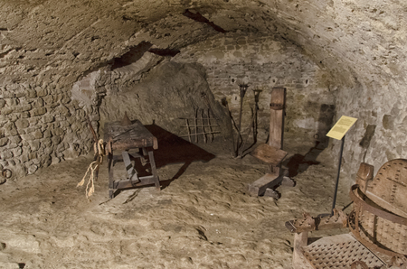 View of the torture chamber of a fortress