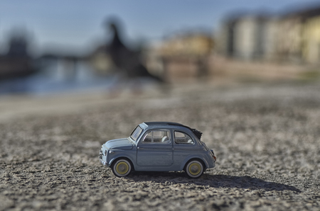 View of a model of the famous Fiat 500