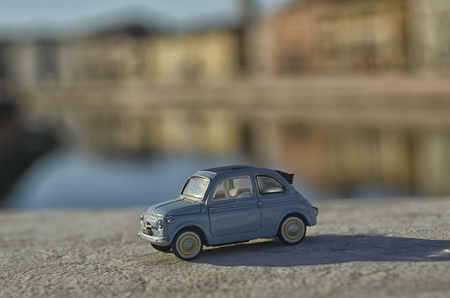View of an Italian symbol of the 60s in Pisa Stock Photo