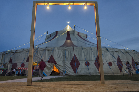 View of circus framed in a frame