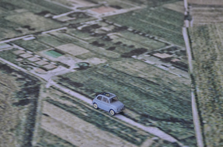 View of the Cinquecento on a giant map Stock Photo - 97135523