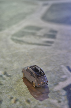 View of the Cinquecento scale model on a map