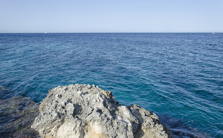 View of the blue sea of Apulia