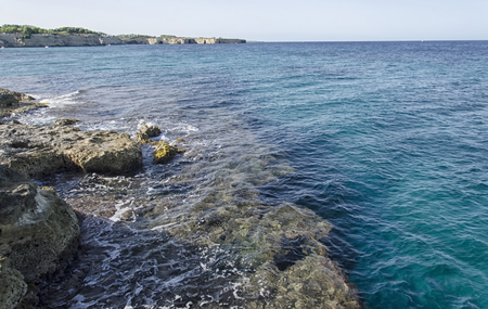 View of the beautiful coastline near Otranto Stock Photo