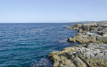View of the beautiful coast near Otranto