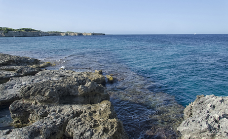 View of the beautiful sea of Apulia Stock Photo