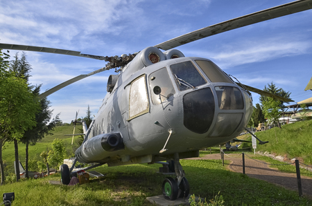 View of a retired Mil Mi-8 helicopter Editorial