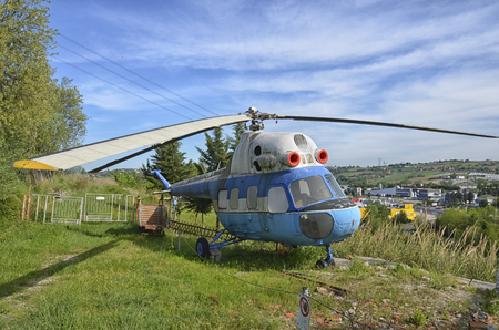View of a retired Mil Mi-2 helicopter